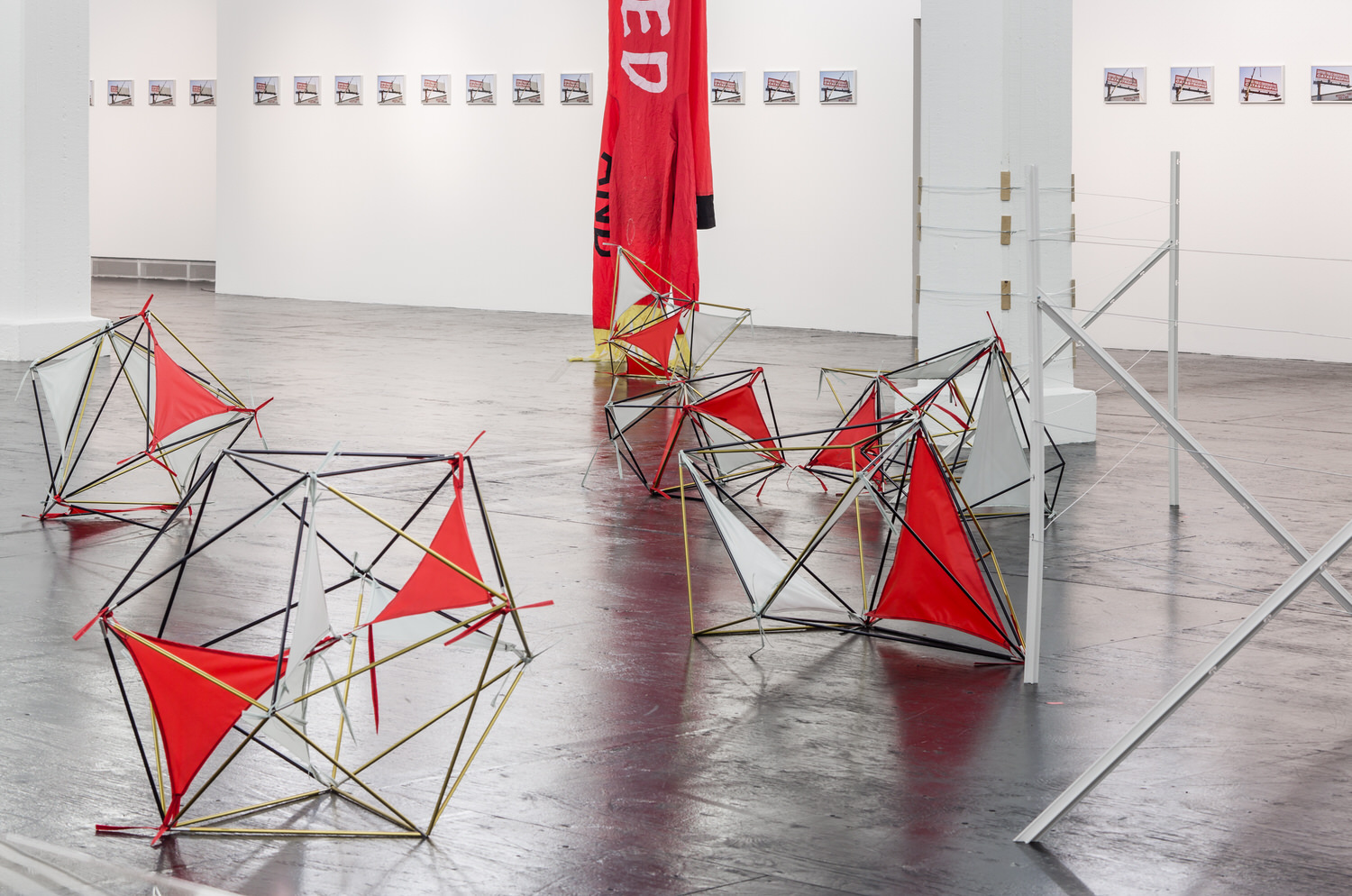 Installation view with Toponymic Proposal #2 (Comanche Grasslands), 2014