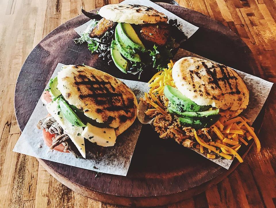 Arepas are so delicious!!! Give me more!! Give me more!!