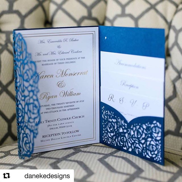 Learning about our clients and their unique stories is one of the true perks of our work.  Repost @danekedesigns with @get_repost ・・・ The most gorgeous invitations, florals, and decor for the sweetest couple! These two have such an amazing story! Congrats y'all!  #backtheblue #danekedesigns #mkeventstx #hiltondallaslincolncentre #holytrinitycatholichcurch