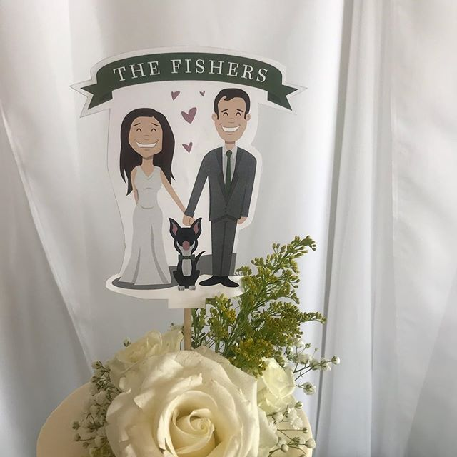 How cool is it when you have your own cartoon for a cake topper?  Congratulations Angela & Jake! . Planning/Coordination: MK Events  Venue: Carleen Bright Arboretum  Flowers: Flower & Ink Photographer: Nicole Dinh Photography  DJ:  WOW factor Entertainment  Hair/Makeup:  Diana Marie Makeup Artistry Catering: JDs Catering . . . #wacowedding #dfwweddingplanner #dfwwedding #sunflowerwedding #baylorwedding #airforcewedding #theknottexas #theknot #weddingwire #southernsocialtx #featuredpro