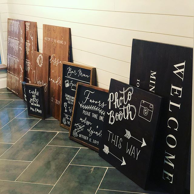 This has been one heck of a week for signs! We are so fortunate to have these beautiful couples come to us for their signage, invitations, florals, decor, coordination, staffing, and many other needs! The added perk is the lasting friendship we get with some incredible people! Y'all are the real rockstars! 👰🏼 🤵🏽 #weddingseason #danekedesigns #mkeventstx #weddingplanner #weddingsigns