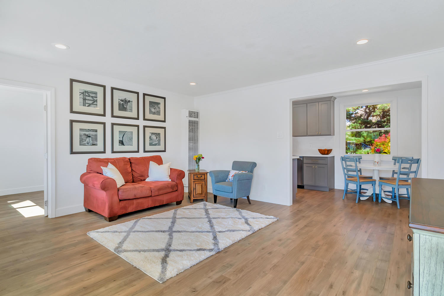 This vintage charmer was beautifully remodeled to create a bright and functional living space.