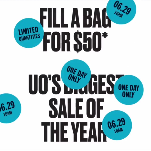 Urban Outfitters Ad For The Sale