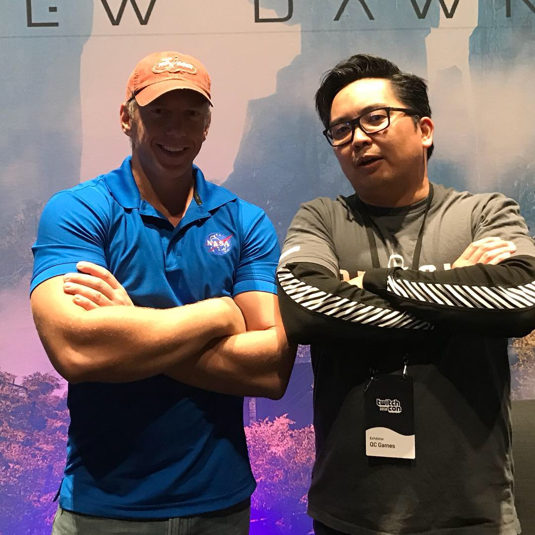 REVERB Triple XP - Having a blast with Anthony from Reverb Triple XP, our publisher for Osiris: New Dawn, during TwitchCon 2018. Always great to catch up and share the same bad jokes. ;)