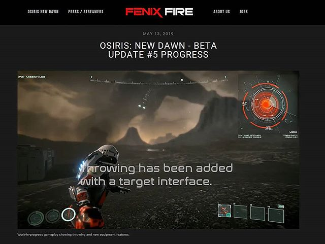 Please be sure to view our updated website, where you may view our recent video that showcases some of the new features coming to the game, along with further information regarding the Beta Update #5! The link to our website will be listed below:  http://www.fenixfire.com/news/2019/5/10/osiris-new-dawn-beta-update-5-progress