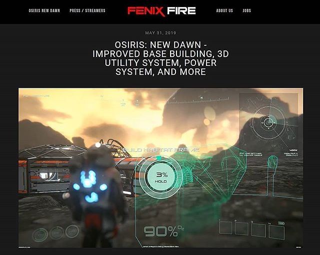Head over to our website so you may view our very exciting progress, as we get closer to releasing the Beta Update #5! The link will be listed below! :  http://www.fenixfire.com/news/2019/5/31/osiris-new-dawn-improved-base-building-3d-utility-system-power-system-and-more