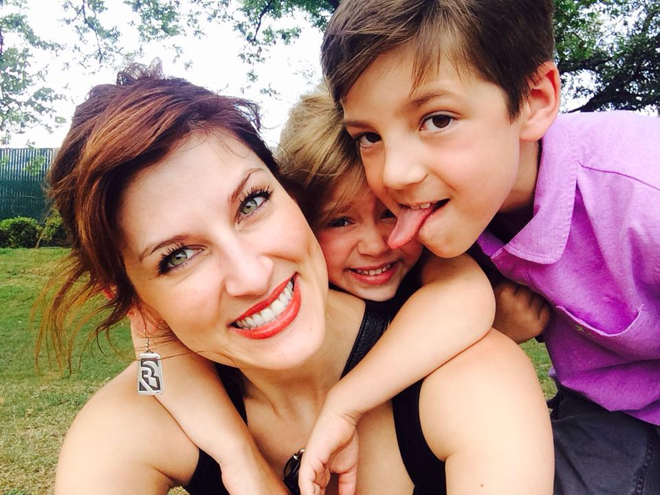 Autumn Manning, CEO of YouEarnedIt.com and her two children