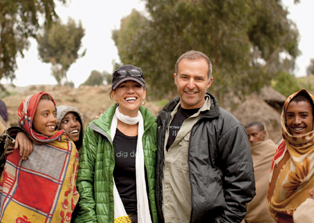 Donna and Philip Berber in Ethiopia with A Glimmer of Hope