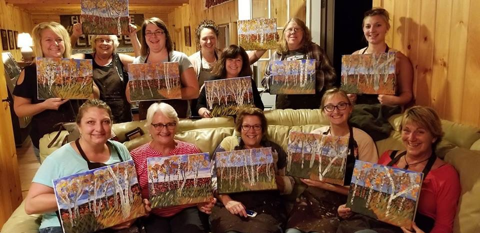 Ladies Night out at Loon ridge in Belgrade Maine 2018