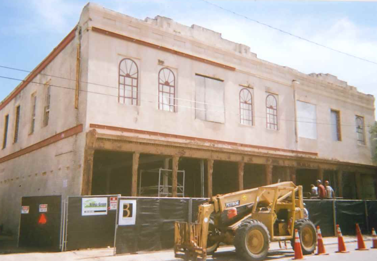 Picture of the District under construction before opening