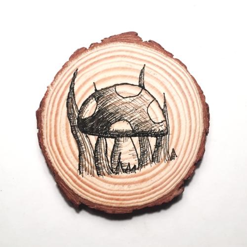 Toadstool Wood Coaster.jpg
