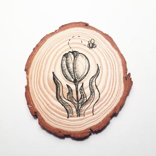 Tulip Wood Coaster.jpg