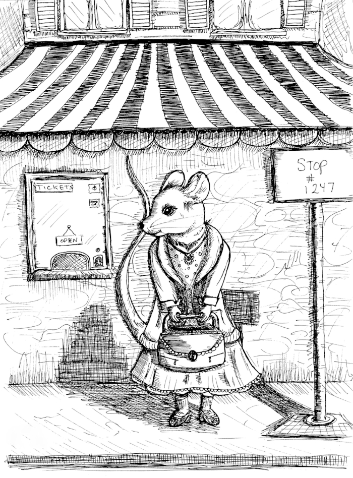 Edited B & W Scan_Mouse Lady Waiting at Bus Stop (2).jpg