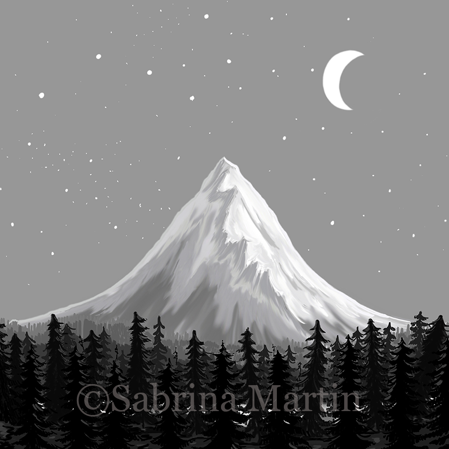 Magnificent Mountain: Illustrated in Photoshop
