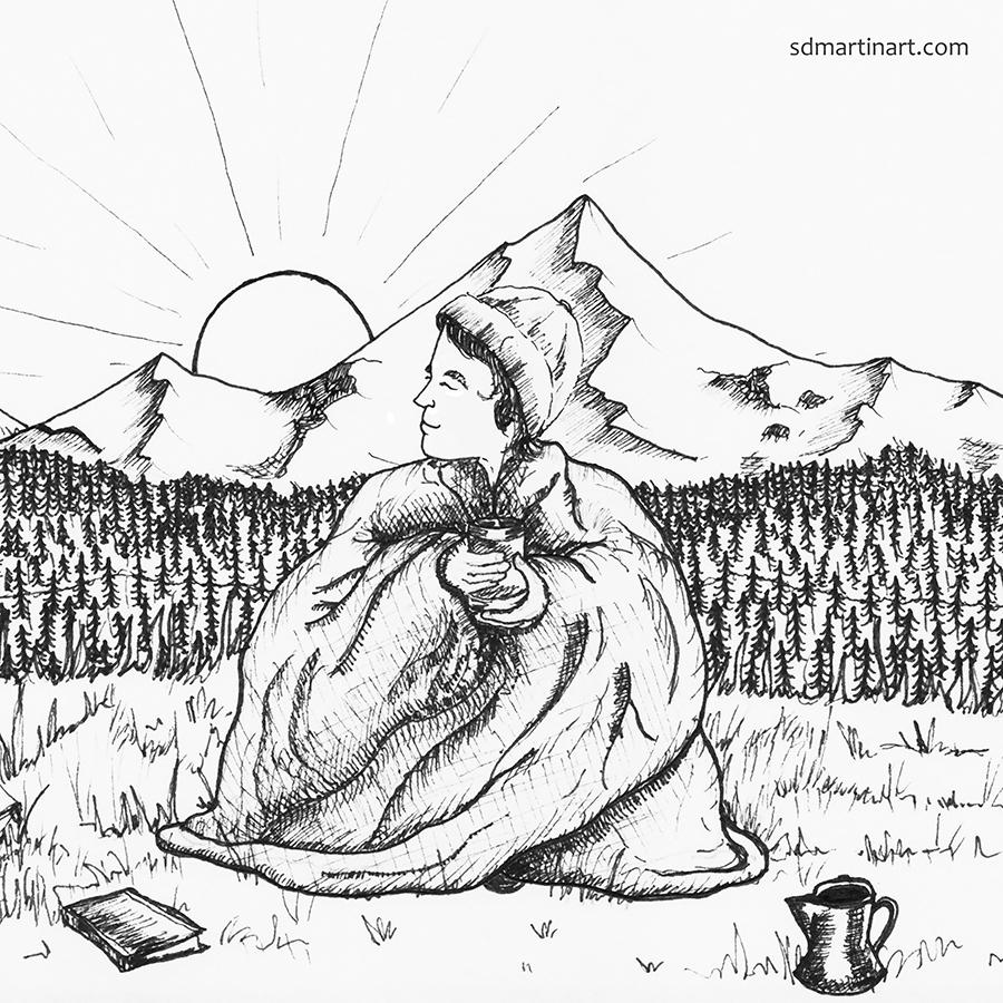 SCBWI_Good Morning Mountains_BW Pen Illustration_LR with WM.jpg