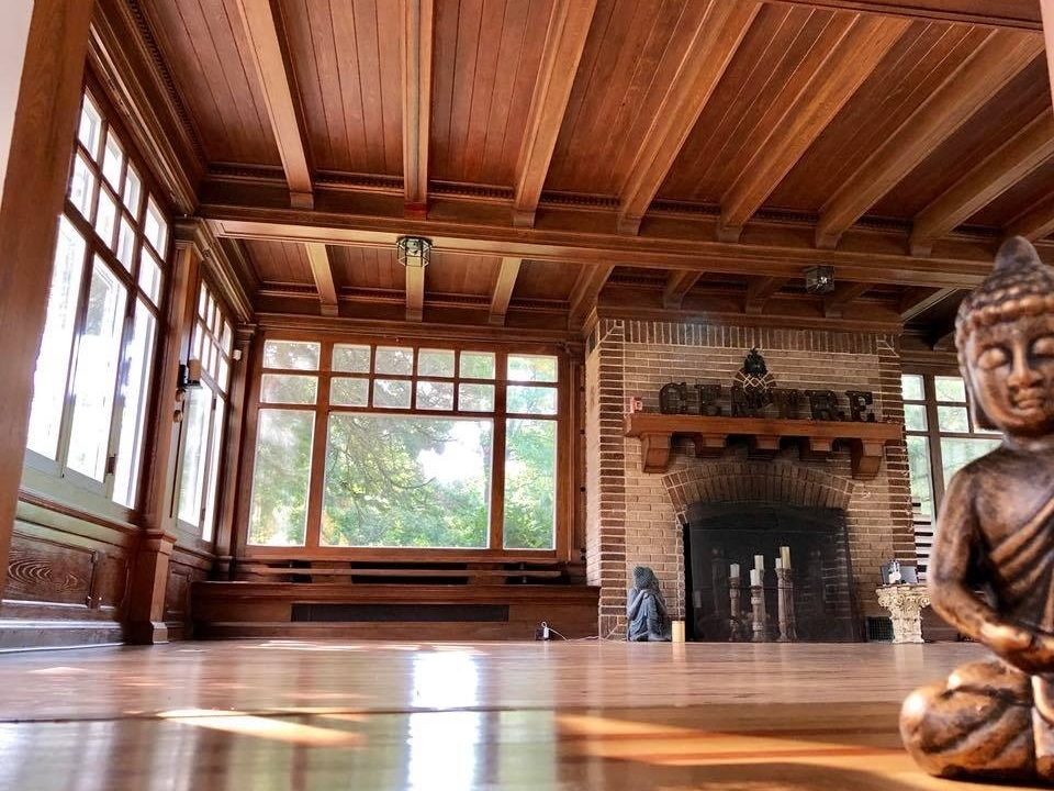 Peabody - 2 rooms available, access to back deck.Large Room (as shown) Max Yoga Capacity: 25 for yoga, 60 for functions.Small Room Max Yoga Capacity 12, 20 for functions