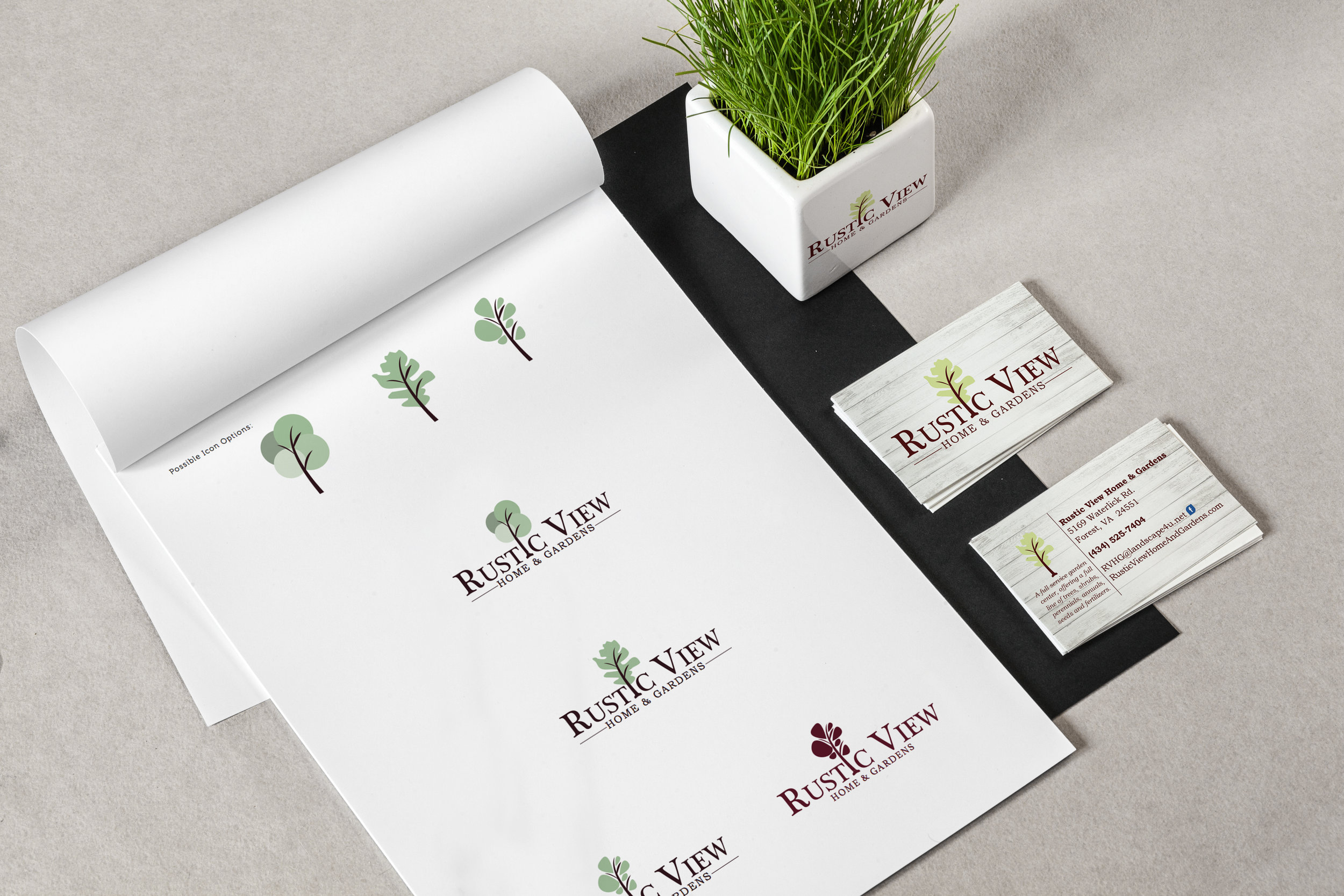 Original brand development from the ground up for a garden nursery