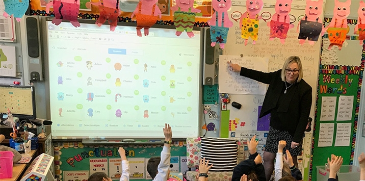 Smart boards are used in classrooms to enhance learning