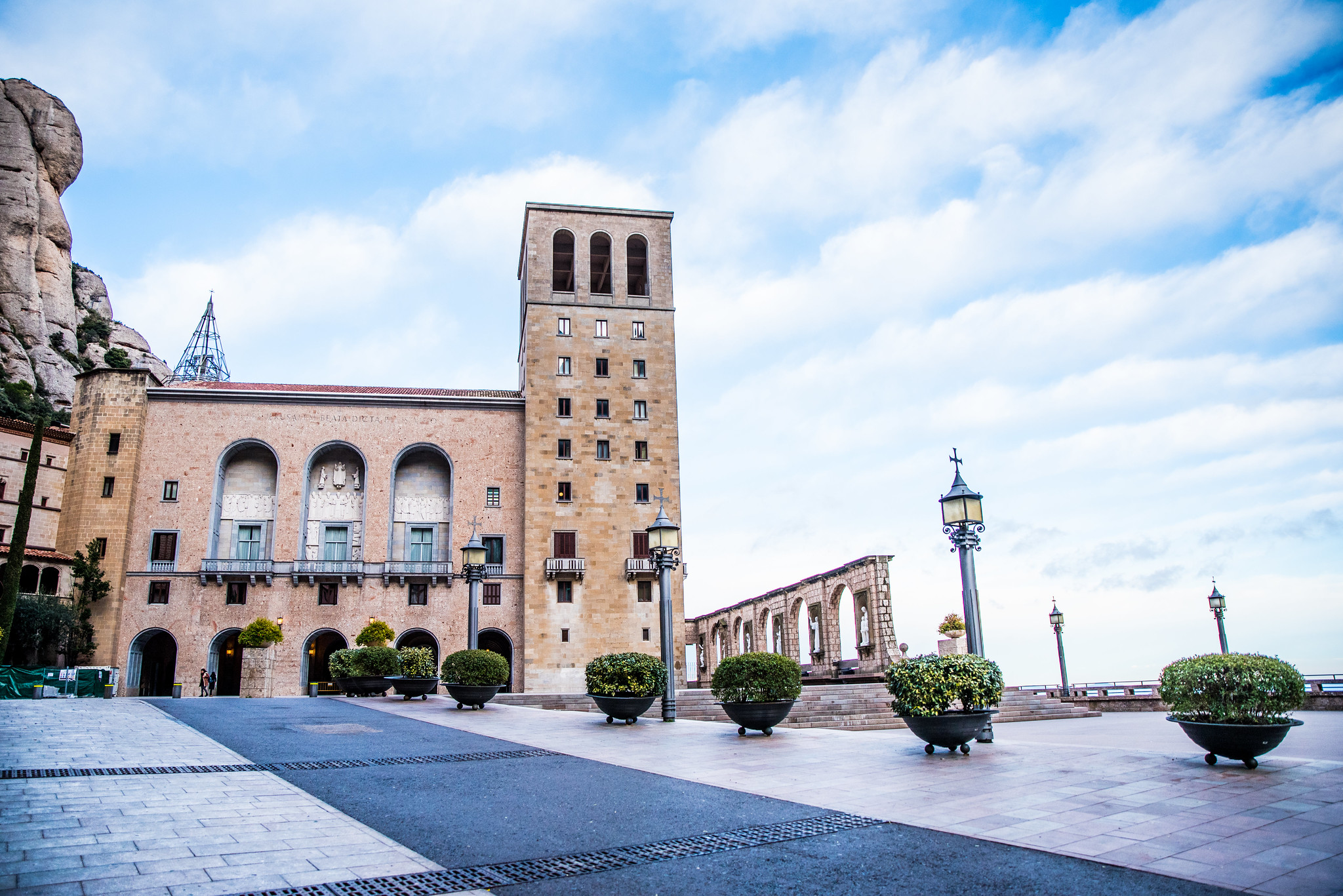 A new façade was built for the church was built after the Spanish Civil War ravaged the monastery.