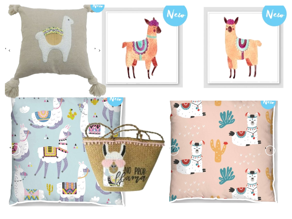 Llama Cushions and Decor