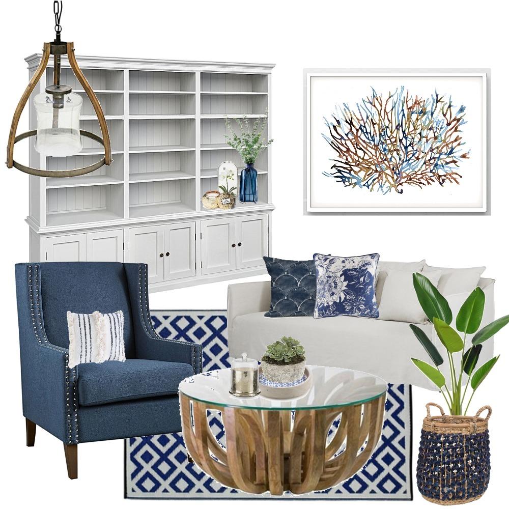 Hamptons Living Room Mood Board