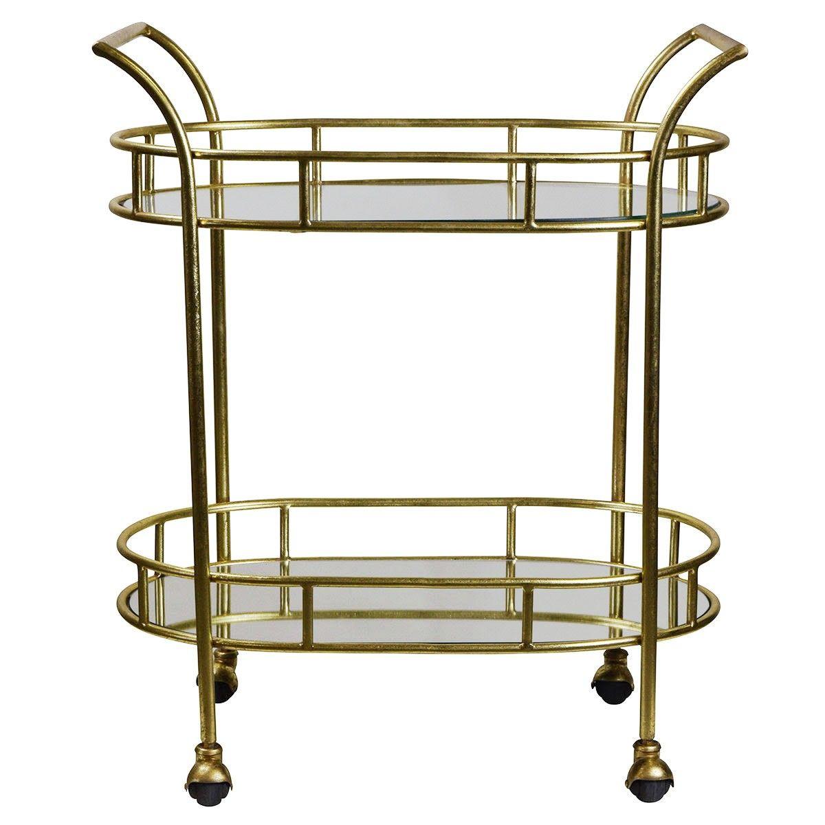 Balmoral Metal & Glass Cart - LivingStyles