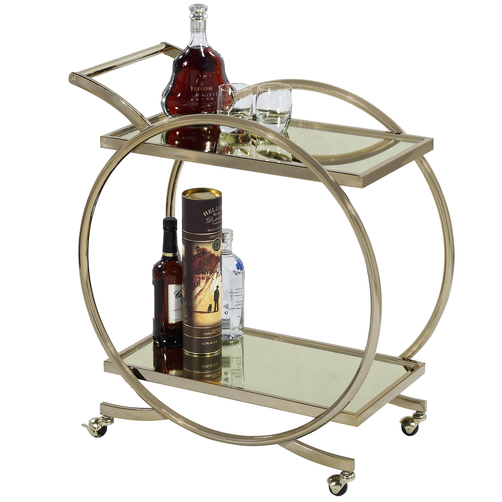 Gold Gatsby Bar Cart- Temple & Webster