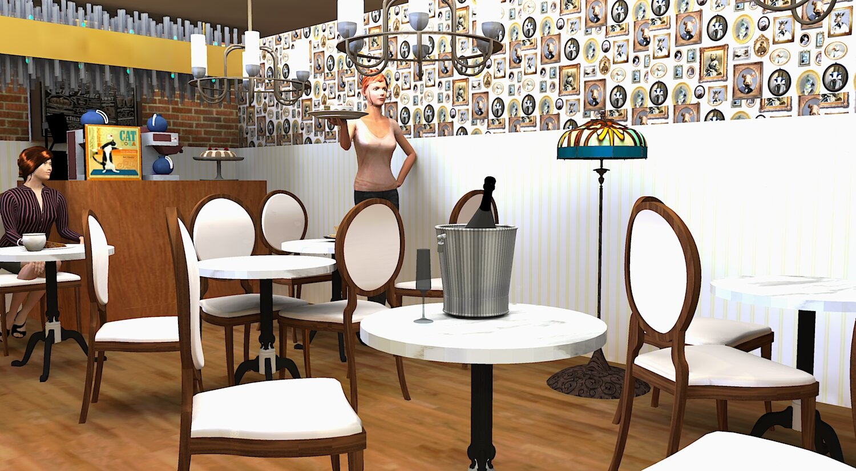 3D Rendered Tearoom Design