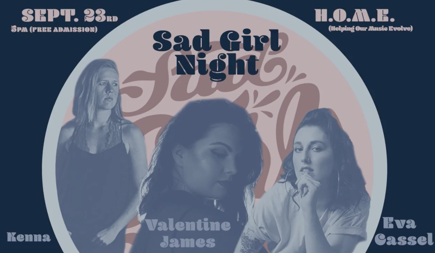 ***FREE SHOW*** Come out to the first Sad Girl Night at  Helping Our Music Evolve - HOME  and celebrate the beauty, vulnerability, and power of some of Nashville's most talented ladies.