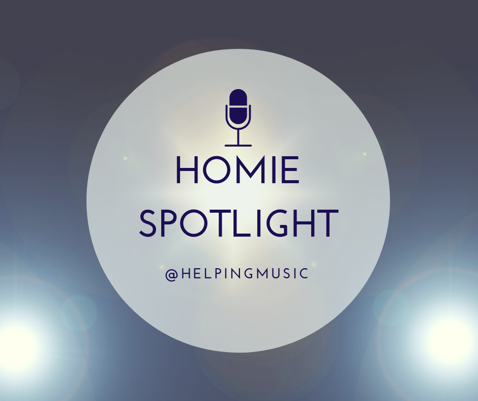HOME SPOTLIGHT   We want to know more about you, your music, your work, your company, current projects etc.  If you'd like to be a featured HOMIE, contact Mary with your tales of glory and social media sagas.   Mary@helpingmusic.org