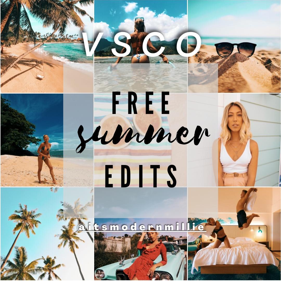 itsmodernmillie vsco summer edits pack
