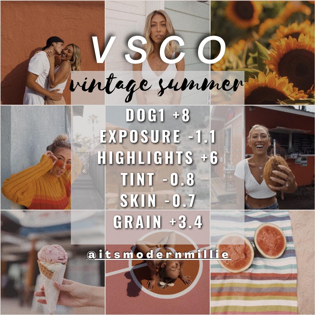 vintage summer vsco edit