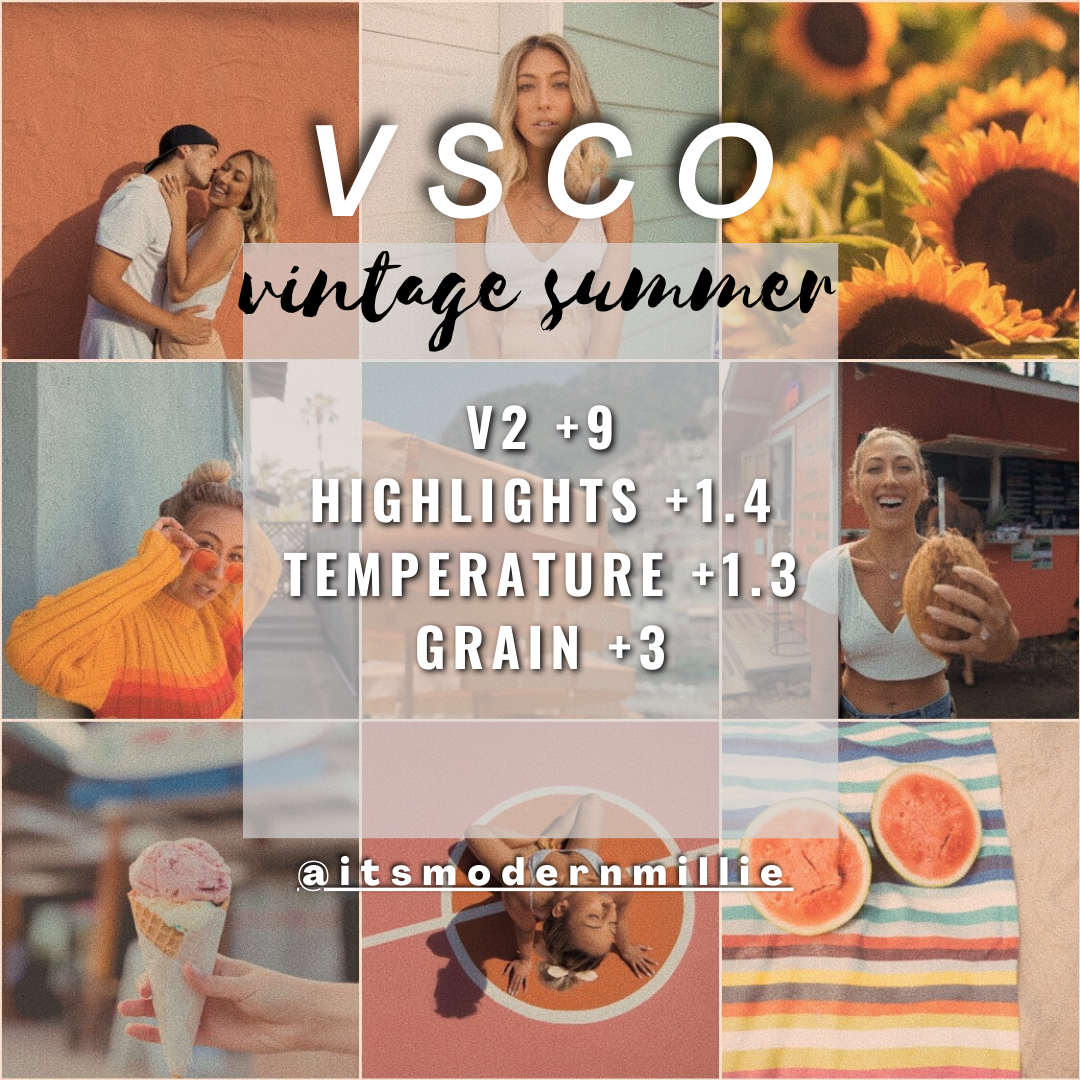 vintage summer edit vsco teal