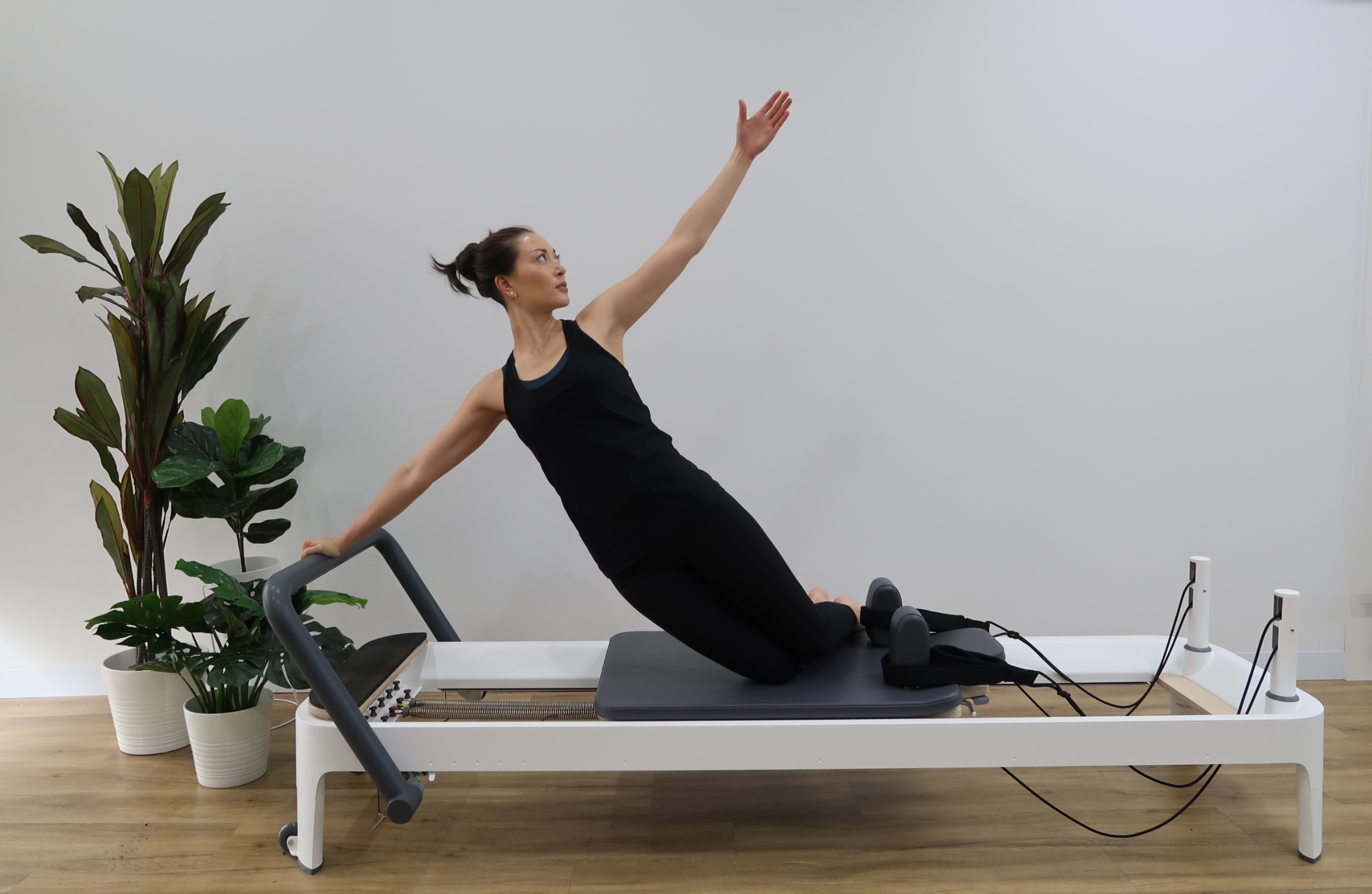 Person using equipment in Keilor Road Physio's clinical exercise & pilates studio
