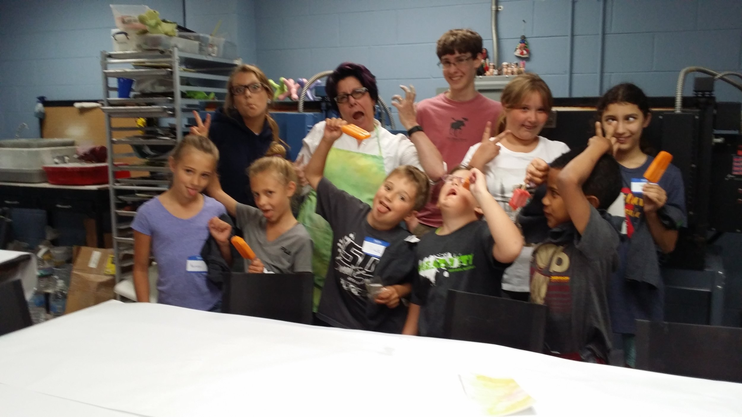 Popsicle time at Perrysburg's Glass Camp!