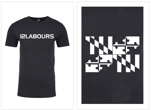 """12 LABOURS """"BASIC"""" MEN'S TEE - CHARCOAL"""