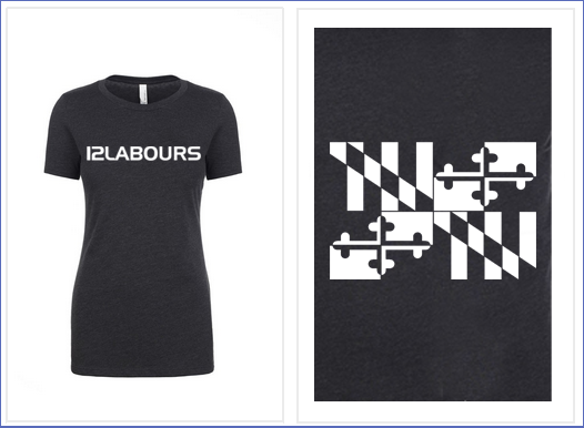 """12 LABOURS """"BASIC"""" WOMEN'S TEE - CHARCOAL"""