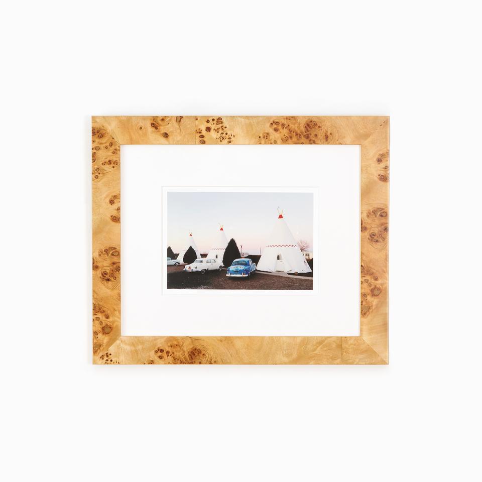 Teepee_Cars_Photo_Burl_Wood_Frame_White_Wall.jpg