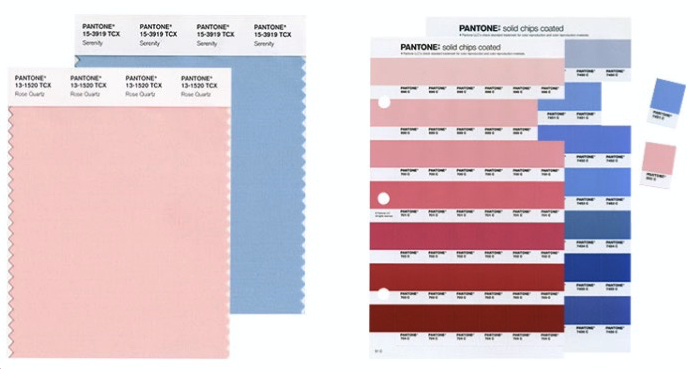 Serenity and Rose Quartz - Colour of the year 2016