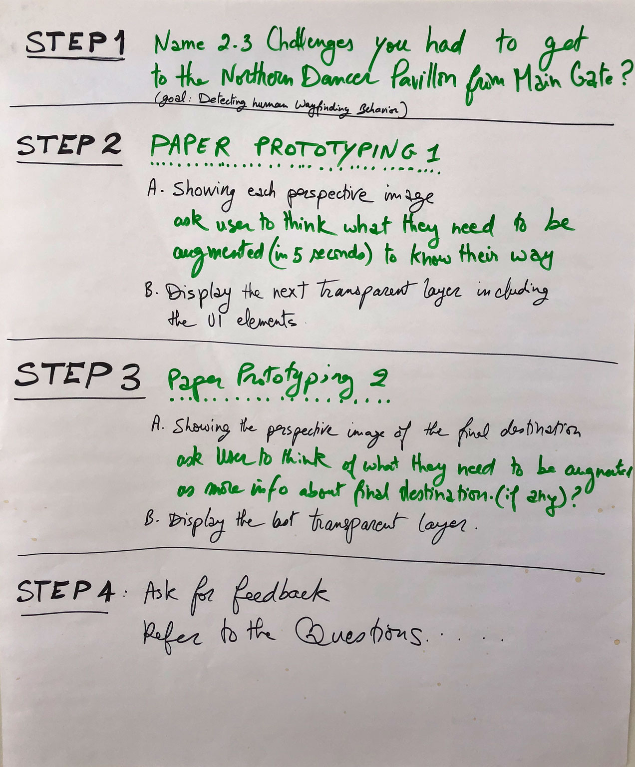 Final Prorotype Steps > to be created for day 3:the testing day.