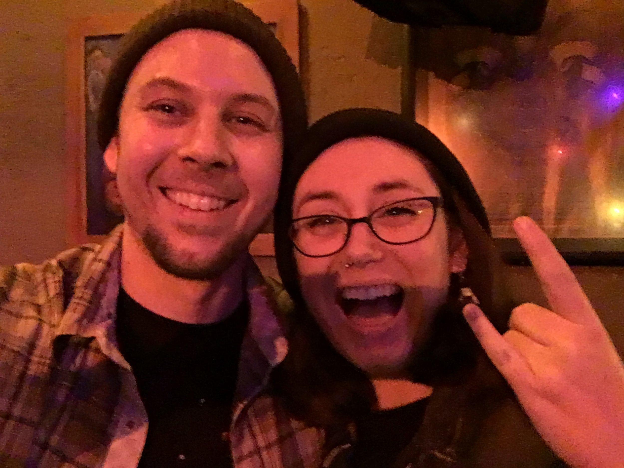 Olivia Awbrey and I, post show celebration faces...