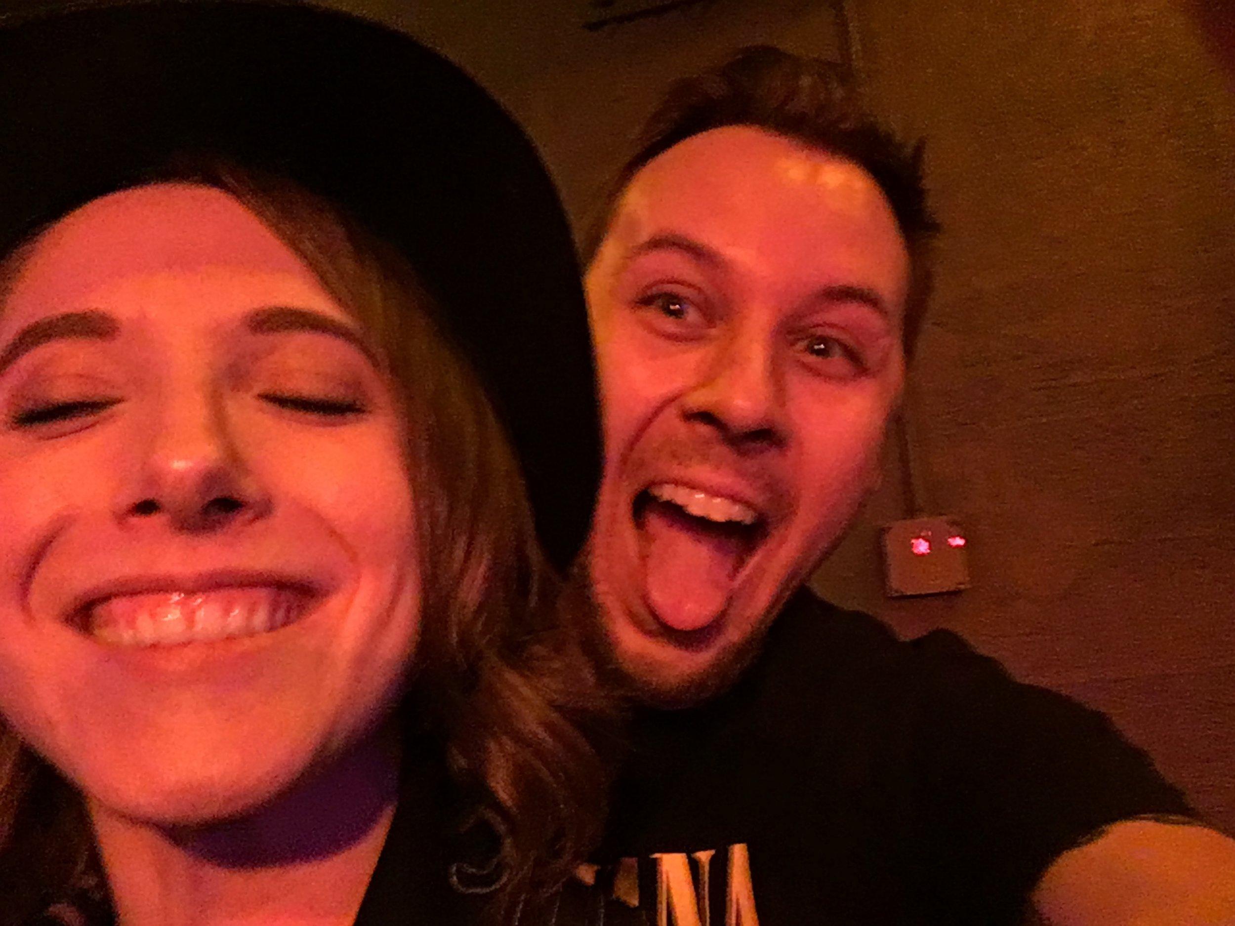 Stage selfie with Hayley Lynn. I'm so weird.