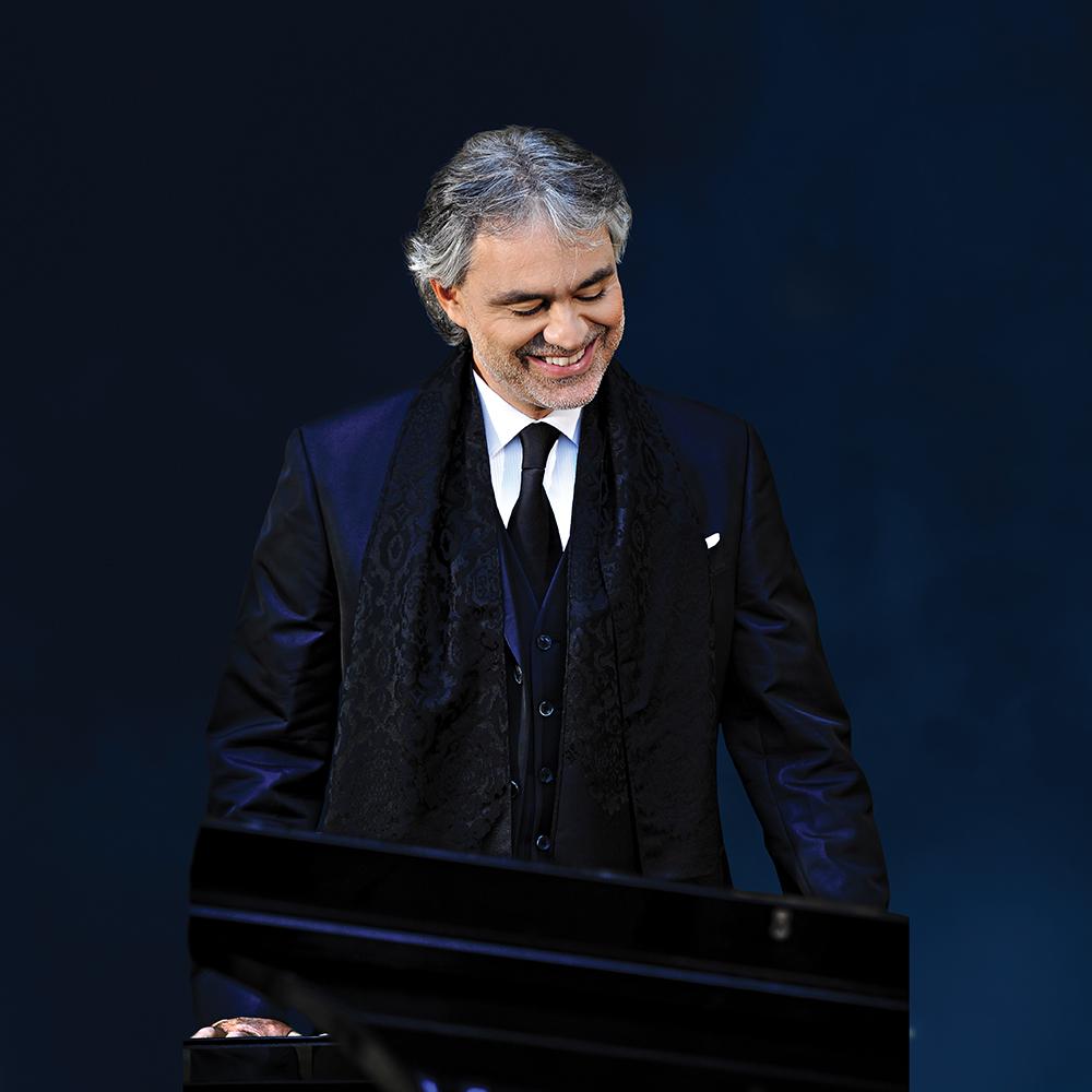 Lead Singer - Andrea Bocelli, Photo courtesy of Intimissimi