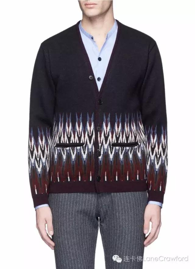 CAMOSHITA 民族风羊毛混羊绒针织外套