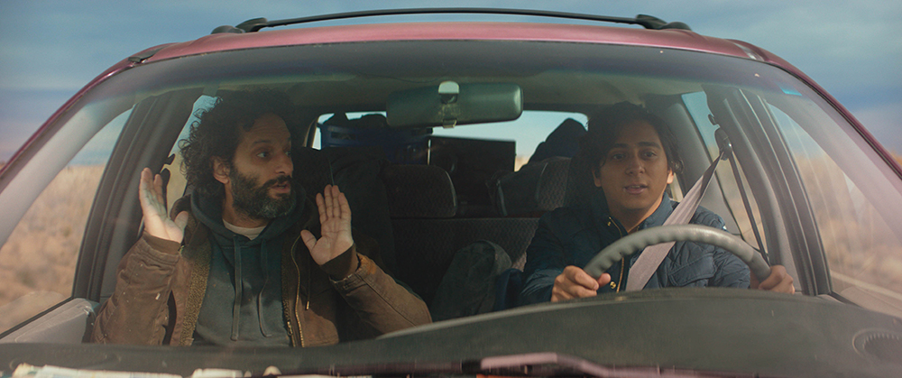 Jason Mantzoukas and Tony Revolori appear in The Long Dumb Road by Hannah Fidell, an official selection of the Premieres program at the 2018 Sundance Film Festival. Courtesy of Sundance Institute | photo by Long Dumb Road LLC.