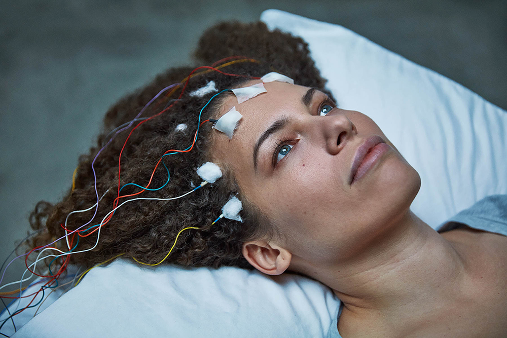 Jennifer Brea appears in Unrest by Jennifer Brea, an official selection of the U.S. Documentary Competition at the 2017 Sundance Film Festival. Courtesy of Sundance Institute | photo by Jason Rothenberg.
