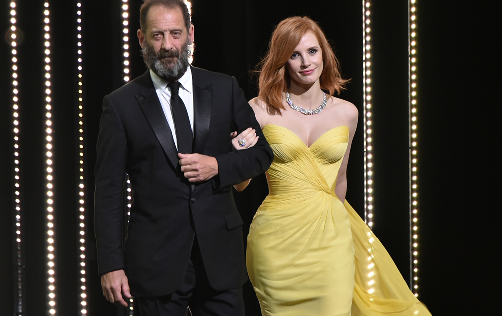 Vincent Lindon and Jessica Chastain, The Masters of the Opening Ceremony  © Alberto Pizzoli / AFP