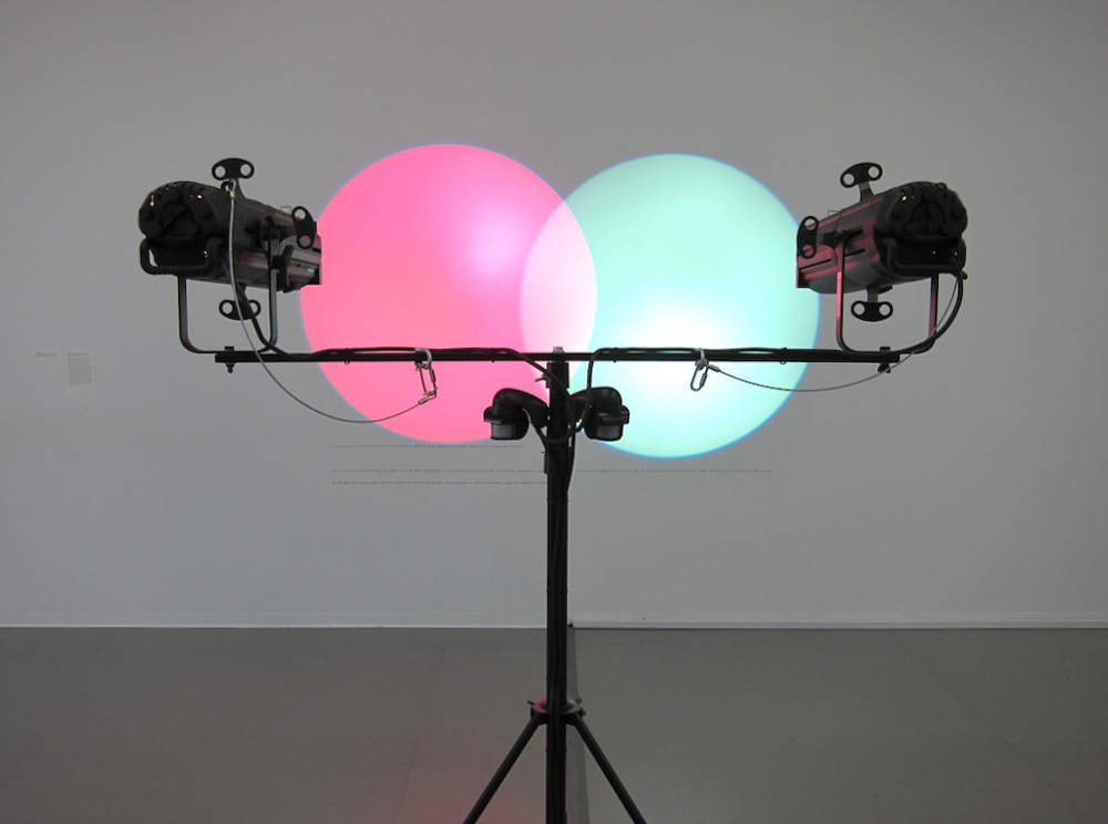 Amalia Pica (Argentine, born 1978). Venn Diagrams (Under the Spotlight). 2011. Spotlights and motion sensors. Dimensions variable. Promised gift of Patricia Phelps de Cisneros through the Latin American and Caribbean Fund.