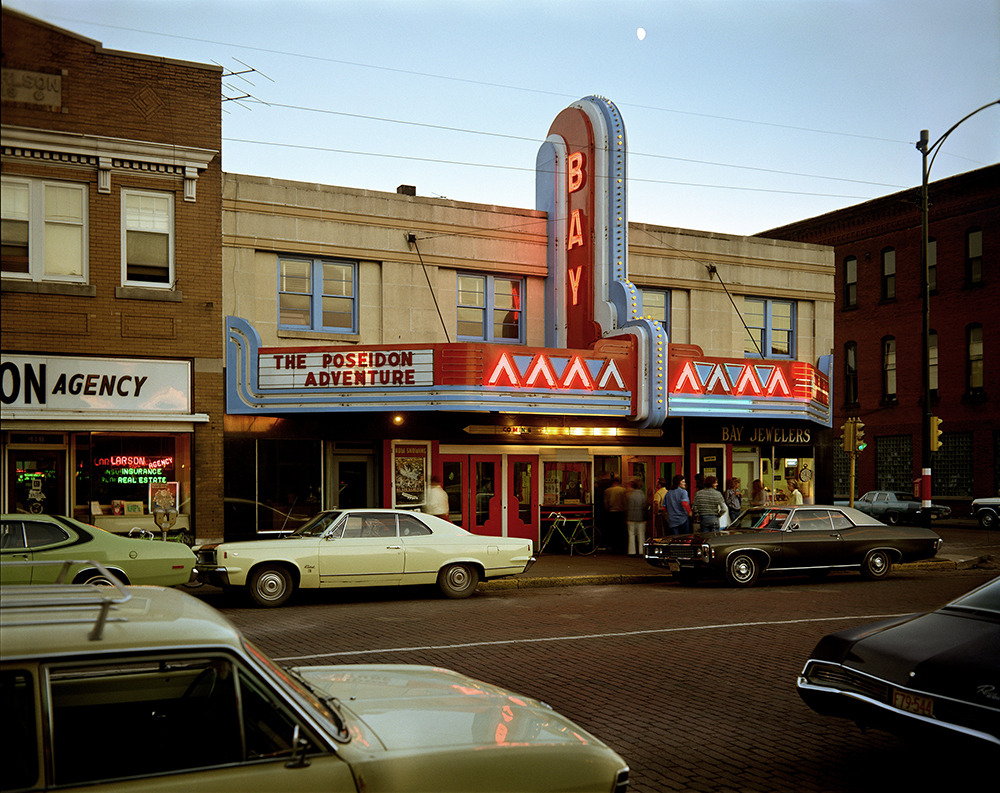 Stephen Shore. Second Street, Ashland, Wisconsin, July 9, 1973. 1973. Chromogenic color print, printed 2017, 17 × 21 3/4″ (43.2 × 55.2 cm). Courtesy the artist. © 2017 Stephen Shore