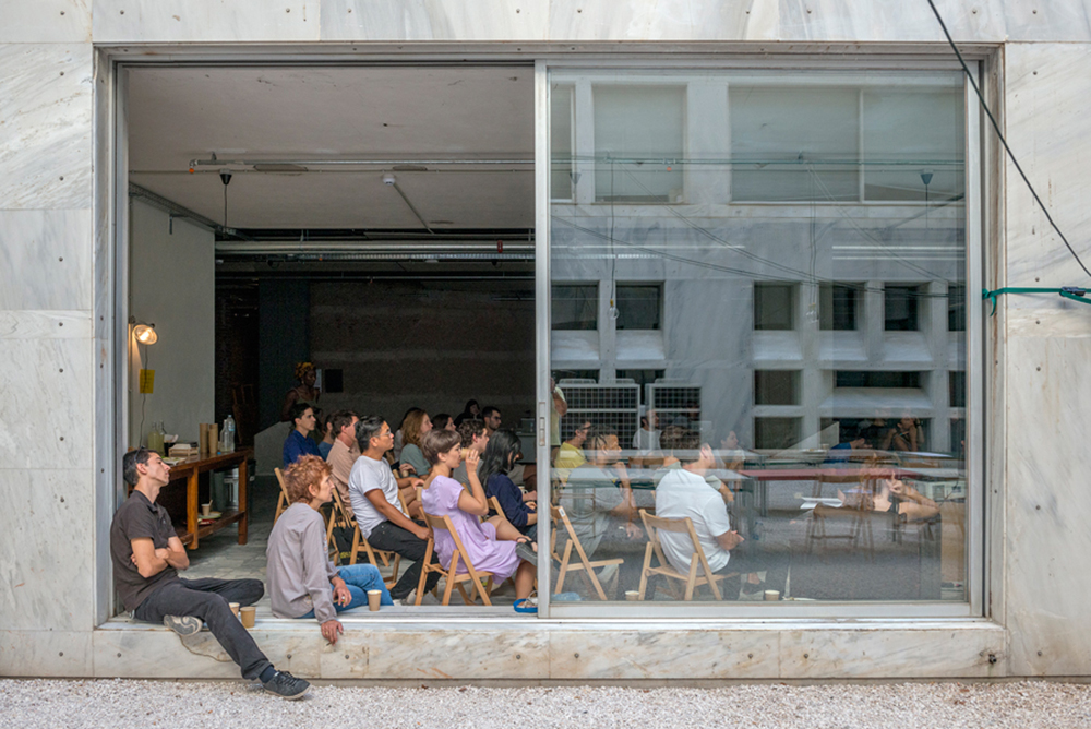 IdeasCity Athens 2016 fellows during their residency at the Athens Conservatoire. Courtesy: ΝΕΟΝ + New Museum, New York; photograph: © Panos Kokkinias